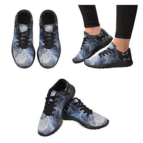 InterestPrint zombie Sports Running Shoes for Men Zombie Skull Ce5SBAE