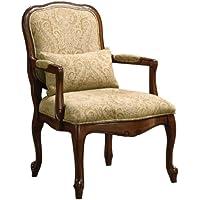 Furniture of America Vanderberge English Style Armchair, Dark Cherry
