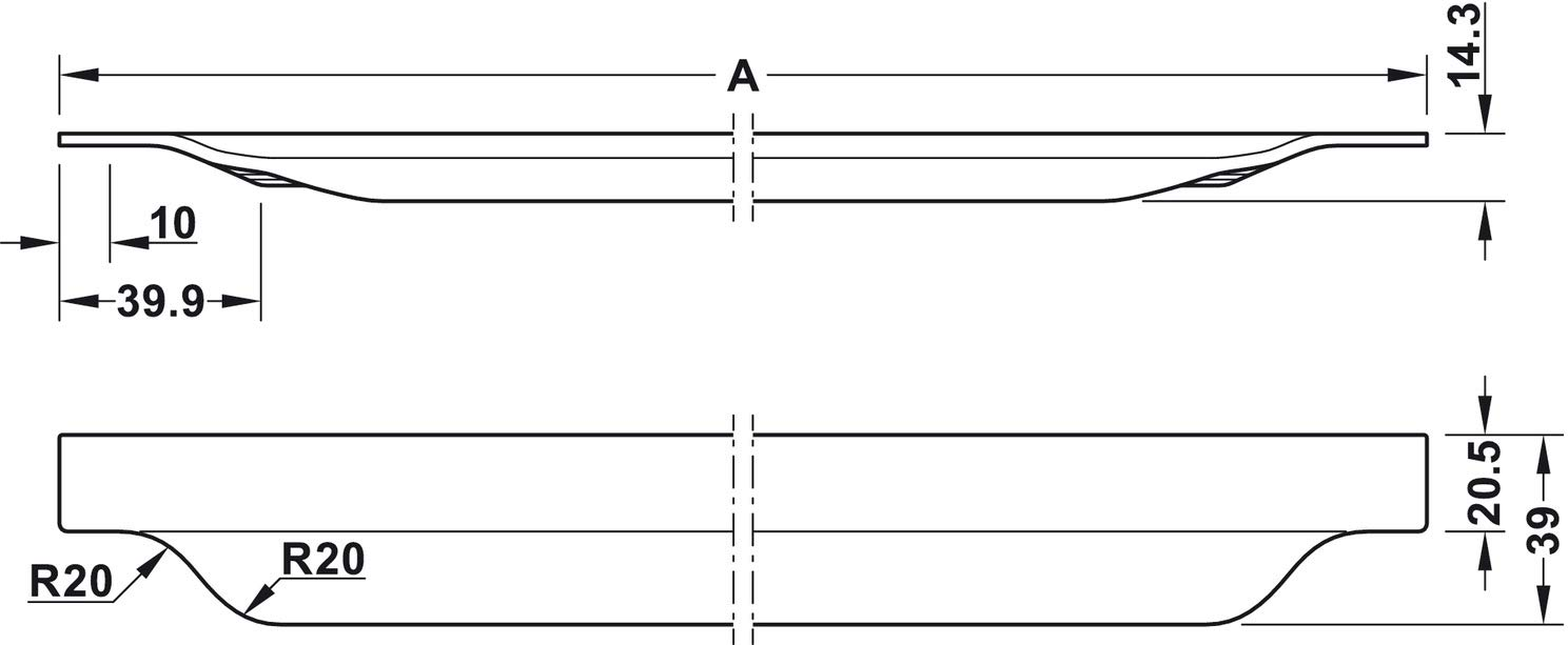 1 St/ück MADE IN GERMANY Designgriff gebogen L/änge 595 mm H8300 Gedotec Aluminium Griffleiste schwarz M/öbelgriff K/üche Griff-Profilleiste k/ürzbar L-Form schwarz eloxiert
