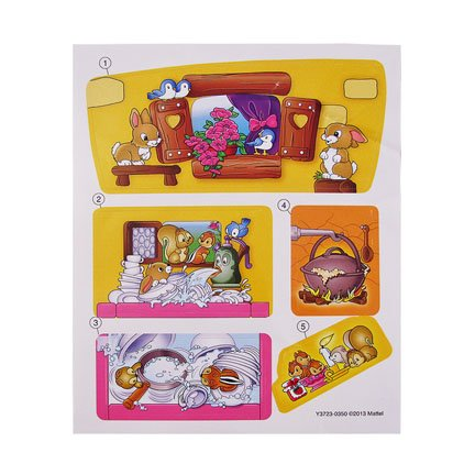 Mattel Stickers - Fisher Price Little People Disney Snow White Playset - Replacement Stickers
