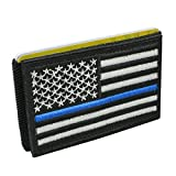 iCraft-Slim Front Pocket USA Flag Tactical Patch Wallet (Law Enforcement)