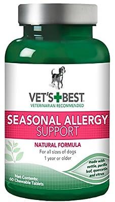 Vet's Best Seasonal Allergy Support Dog Supplements, 60 Chewable Tablets by Vet's Best