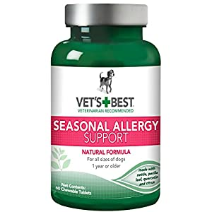 Vet's Best Seasonal Allergy Relief Dog Supplements, 60 Chewable Tablets, USA Made