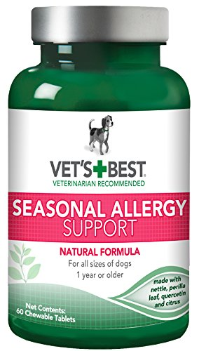 Vet's Best Seasonal Allergy Relief Dog Supplements, 60 Chewable Tablets, USA Made Relief Dog