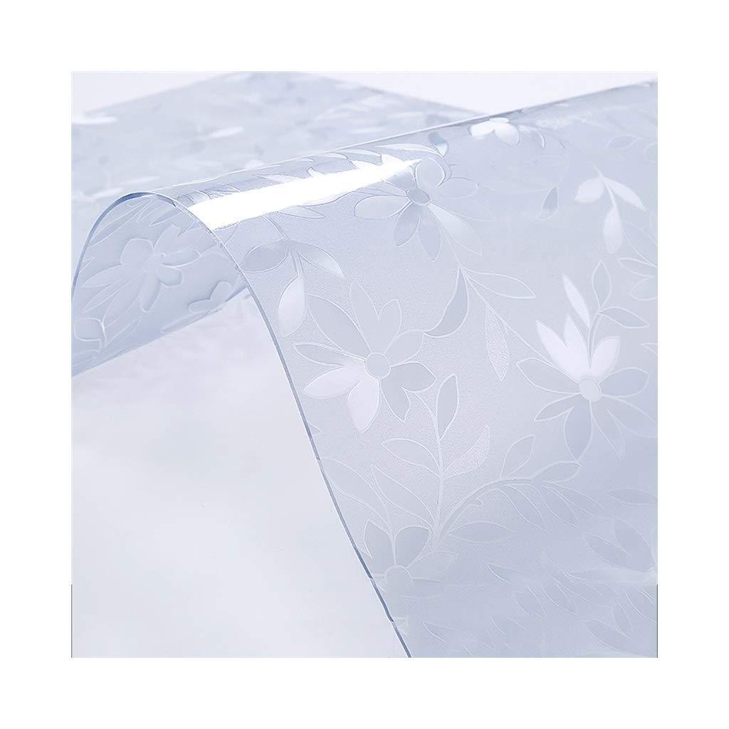 SCJ ポリ塩化ビニールのテーブルクロス - 世帯の柔らかいガラス防水のやけどしない耐油性洗浄なし透明なプラスチック製のテーブルクロス(色:デイジー1.5 mm、サイズ:直径140 CM) Diameter 140CM Daisy 1.5mm B07S61G3RK