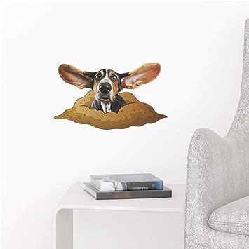 WHFDRHQT Pegatina Pared Etiqueta etiqueta de la pared pegatinas Gatos Perros 3D Vivid Vista Decorativo Etiqueta ...
