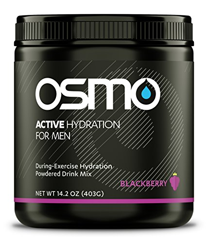 Osmo Nutrition Active Hydration for Men, Blackberry, 40 Serving Canister, 14.2oz 6 Man Canister