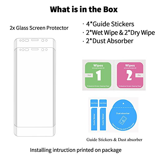 Galaxy S9 Plus Screen Protector, NOKEA Tempered Glass [Crystal Clear] [3D Curved Glass] [Full Coverage] [Easy Bubble-Free Installation] [Scratch Resist] for Samsung Galaxy S9 Plus-Clear (2 Pack) by NOKEA (Image #5)