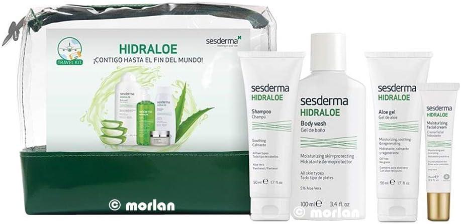 Sesderma Hidraloe Gel Baño, 100ml+ Champú, 50ml + Crema Facial,15ml+Gel Aloe,50ml+NECESER