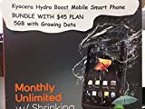 Kyocera Hydro Boost Mobile Smart Phone + DATA & Unlimited Nationwide Talk,Text