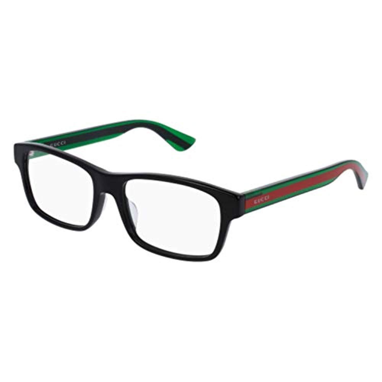 5c445adcd4c5 Amazon.com  Eyeglasses Gucci GG 0006 OA- 003 003 AVANA   BLUE  Clothing