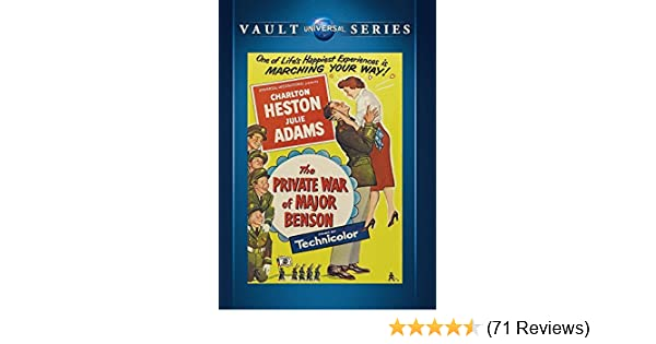 Amazon.com: The Private War of Major Benson by Charlton Heston: Movies & TV
