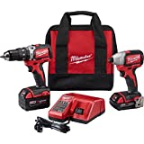 Milwaukee 2799-22CX M18 Cmpt Brushless Hammer Drill Impact Kit