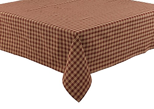 "Park Designs Sturbridge Tablecloth, 54 x 54, Wine - Sturbridge wine check pattern Tablecloth measures54"" x 54"" 100% cotton - tablecloths, kitchen-dining-room-table-linens, kitchen-dining-room - 51tfqNhgYOL -"