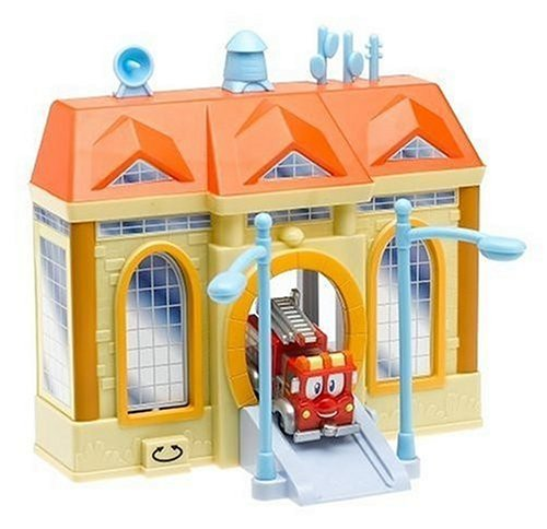 Firehouse Tales Deluxe Playset w/ 3.5 In. Vehicle: Red w/ Lifts 'n Levers Firehouse (Lift House Deluxe)