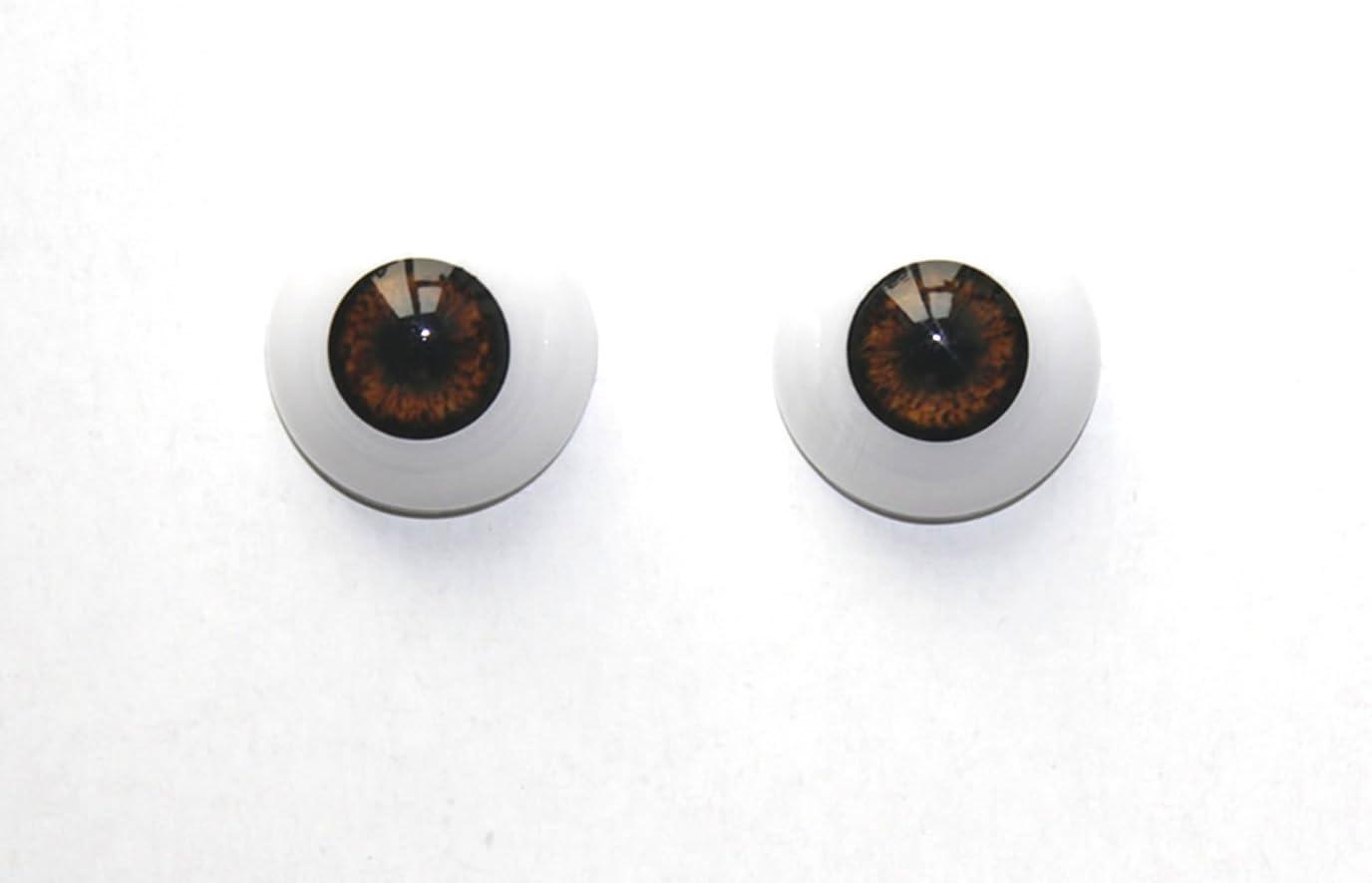 Good 22mm flatback Dark Brown Glass BJD Eyes for reborn//newBorn BJD doll