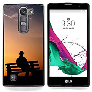 - Park Bench Man/ Hard Snap On Cell Phone Case Cover - Cao - For LG Volt 2 / LG G4 Mini (G4c)