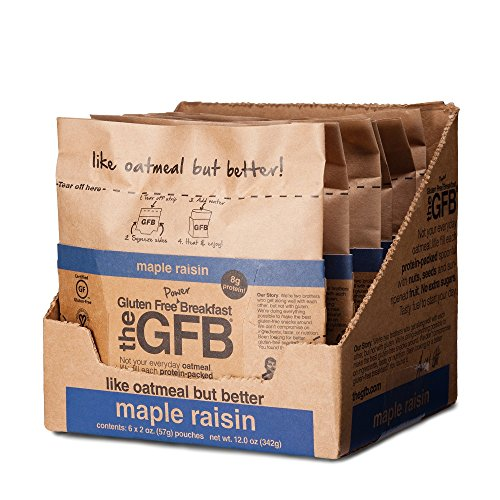The Gluten Free Bar High Protein Oatmeal Power Breakfast, Maple Raisin, 6 Count