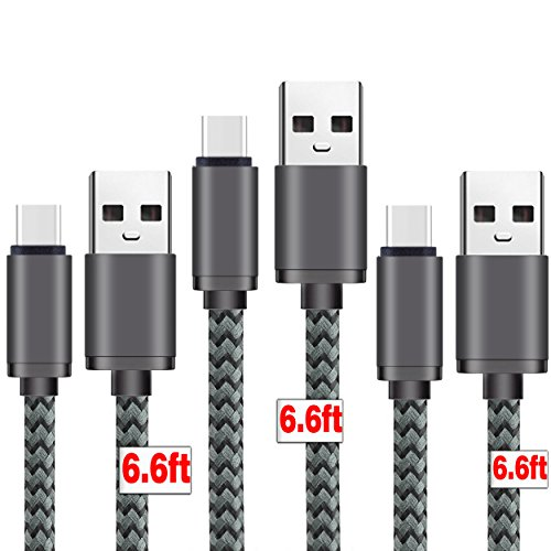 Charging Braided Smartphone Tablets Greyblack