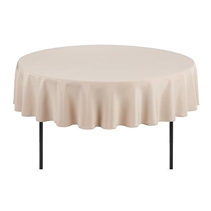 Superieur E TEX Round Tablecloth U2013 90 Inch U2013 Beige Round Table Cloth For Circular  Table