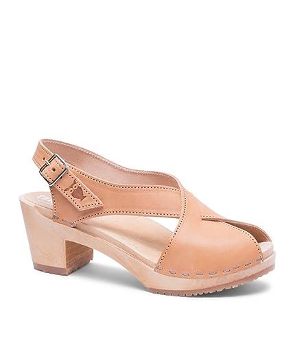 78d4fe264c5 Sandgrens Swedish High Heel Wood Clog Sandals for Women