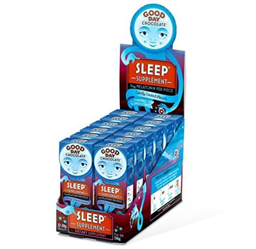 Good Day Chocolate   Milk Chocolate With Pharmaceutical Grade Nutraceuticals For Sleep   Health Supplement With Melatonin   Chamomile  Sleep  12 Pack