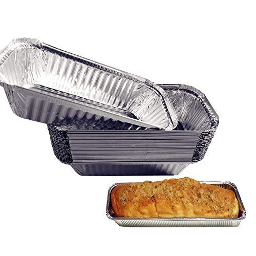 30 Pack Aluminum Loaf Pans, Aluminum Disposable Pans, Bread Pans, Meatloaf Pans, Cake Pan, Foil Loaf Pans