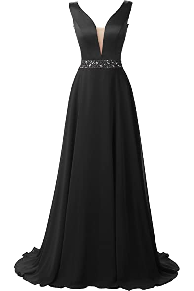 MILANO BRIDE Vogue Evening Dress Prom Gown V-neck A-line Beads Wedding Party