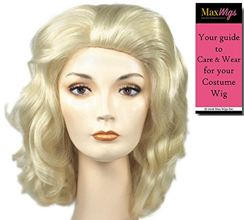 Anna Dolly Blonde - Lacey Wigs Women's Synthetic Wavy Page Style Nicole Smith Parton 90s Bundle With MaxWigs Costume Wig Care Guide ()