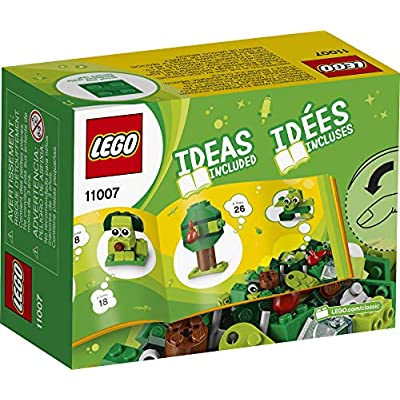 LEGO Classic Creative Green Bricks 11007 Starter Set Building Kit with Bricks and Pieces to Inspire Imaginative Play, New 2020 (60 Pieces): Toys & Games