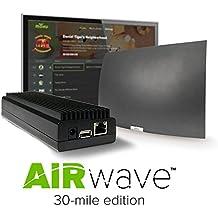 2017 Mohu AirWave Premium Edition Wireless OTA Antenna, Programming Guide, Mohu TV app (30 Mile Range)- Discontinued