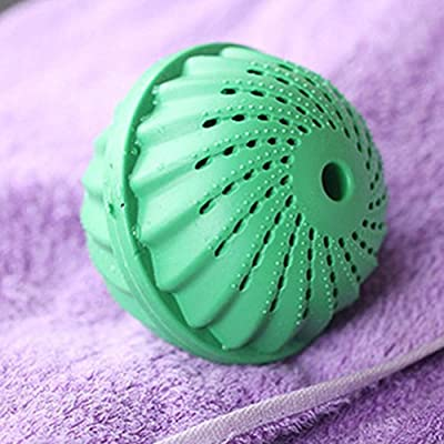 2 Pcs Eco Magic Laundry Washing Ball,Friendly Reusable Clothes Wash Ball,Clean & Soften Non-Toxic Green Clean Eco Washer Laundry Balls for Washing Machine, 1500 Washings