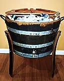 wine barrel cooler - Half Barrel Ice Chest - Wine Barrel Handcrafted - Central Coast Creations - Wine Barrel Furniture