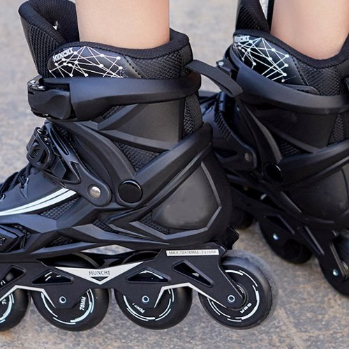 Sunkini Adults Men's Professional Inline Skate Shoes Freestyle Women Skating Boots Outdoor Roller Skates with Protector Gear Black (Size : 42) by Sunkini (Image #5)