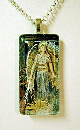 Guardian angel pendant with chain - GP01-516 ()