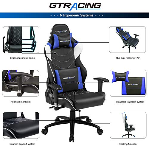 Office chair with speakers Computer Walmart Gtracing Ergonomic Office Chair Racing Chair Backrest And Seat Height Adjustment Computer Chair With Pillows Recliner Aliekspresssite Gtracing Music Gaming Chair With Bluetooth Speakerspatented
