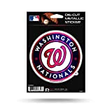 "Rico Industries, Inc. Washington Nationals Rico 5"" METALLIC DECAL Die Cut Auto Sticker Emblem Baseball"
