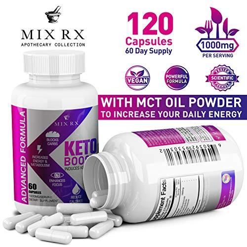 (2 Pack) Keto Diet Pills with Carb Blocker Ultra Supplement - Keto Burn w Exogenous Ketones - MCT Oil Powder - Fast Ketosis for Women Men - Advanced Metabolism Burner w BHB Salts by Mix Rx (Image #1)
