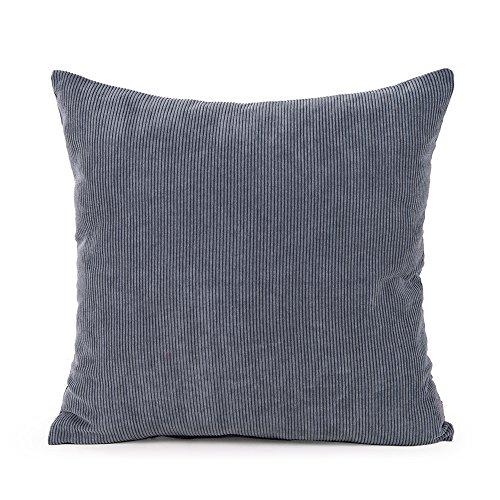 baibu Corduroy Decor Solid Throw Pillow Cover  Cushion Cover