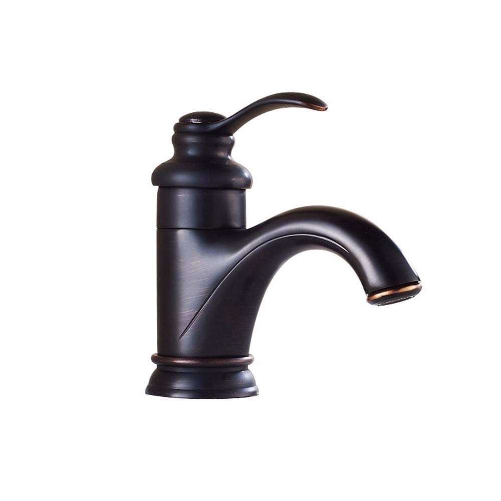 Short yuyu19-SLT Bathroom Taps Mixer Mono Basin Mixer Tap Sink Faucet Black antique copper,high