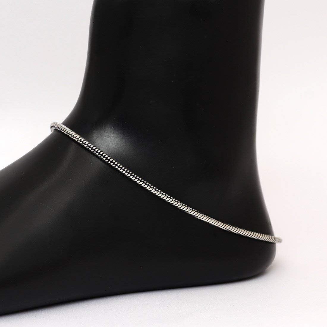 Payal ANK151SLV Anklet Bracelet For Women Indian Anklets For Women Bollywood Ankle Bracelet Anklets For Women Indian Anklets For Women With Bells Anklets For Girls Payal Anklet Indian
