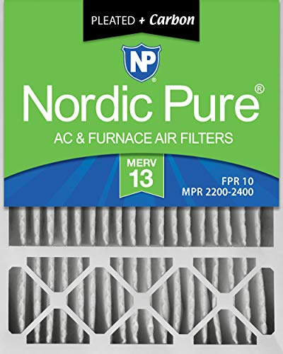 Nordic Pure 20x25x5 (4-3/8 Actual Depth) Plus Lennox X6673, X6675 Replacement AC Furnace Air Filter, 1 PACK, MERV 13 + Carbon