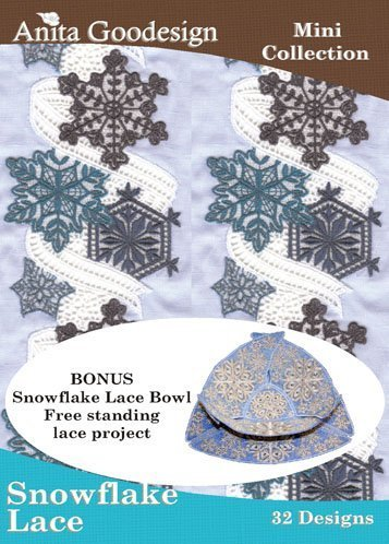 (Anita Goodesign Embroidery Designs Cd Snowflake Lace)