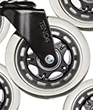 Propel Caster Wheels (Set of 5) – 3 Inch, Heavy Duty, Rollerblade Style Replacement for Home and Office Chairs – Smooth Rolling, Universal Fit – Safe on Carpet and Hardwood Flooring