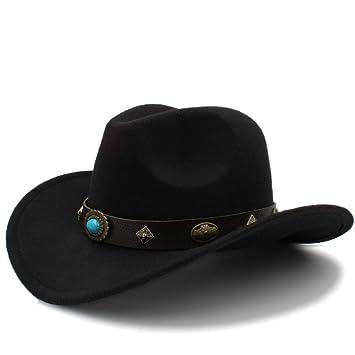 3be47854 Otoño Invierno Cálido Gorras 2018 Nuevo Sombrero de Vaquero ...