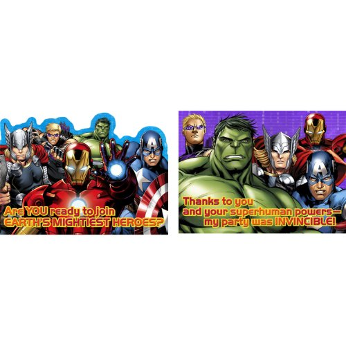 Avengers 'Assemble' Invitations & Thank You Cards w/