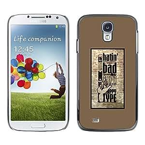 PC/Aluminum Funda Carcasa protectora para Samsung Galaxy S4 I9500 Hatin Bad / JUSTGO PHONE PROTECTOR