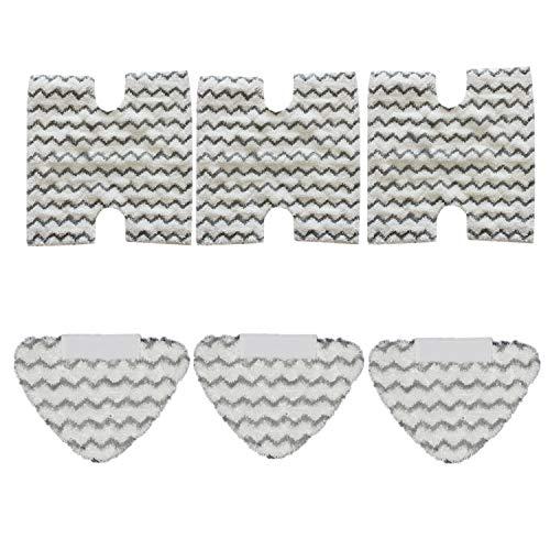 CKL&DJ Replacement Steam Mop Pads for Shark Lift-Away & Genius Steam Pocket Mop S3973D S6002 S5003D S6001 S6003 S5001 S5002 S3973WM (3 Standard Pads+3 Triangle - Standard Triangle