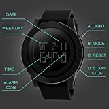 Aposon-Mens-Digital-Electronic-Waterproof-LED-Sport-Watch-Casual-Quartz-Military-Multifunction-12H24H-Time-Back-Light-with-Simple-Design-164FT-50M-Water-Resistant-Calendar-Month-Date-Day-Black