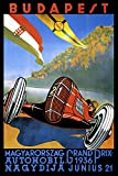 Budapest Hungary 1936 Automobile Car Race Grand Prix European Vintage Poster Repro on PAPER or on CANVAS. We Have Many Sizes Available ! (12